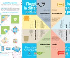 Brochure origami